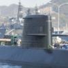 普通に軍艦や潜水艦がいる風景:広島県呉市